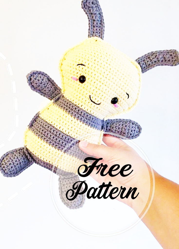 Free Pattern: Burt the Baby Honey Bee – Storyland Amis | 1024x735