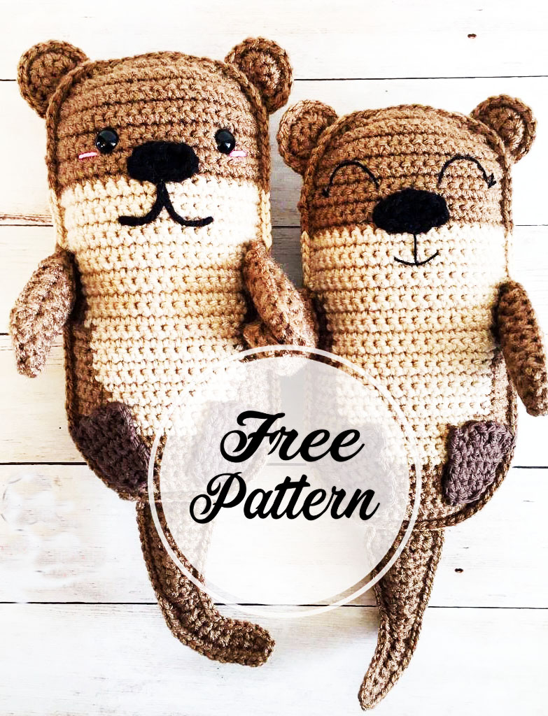 Sno & Snoosle, crochet sea otter pattern   Son's Popkes   1024x783
